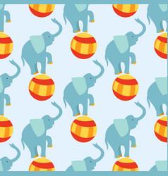Circus funny performance elephant animal vector