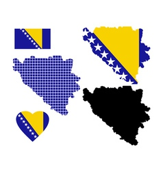 Map bosnia vector