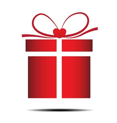 The red gift box on a white background vector