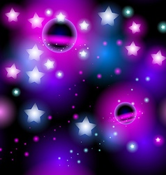 Abstract seamless pattern space with stars vector