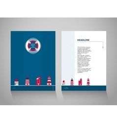 Nordic brochure template vector