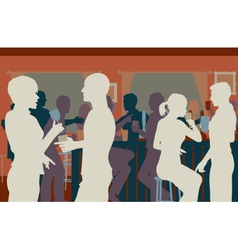 Pub crowd vector