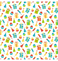 Seamless bright fun celebration festive pattern vector