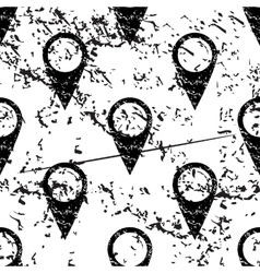Map marker pattern grunge monochrome vector