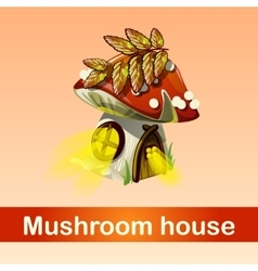 House in forest mushroom fantasy phenomenon vector