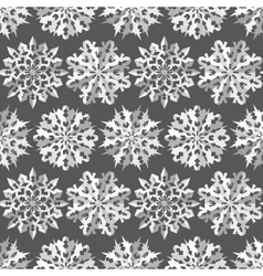Seamless christmas pattern origami paper cut out vector