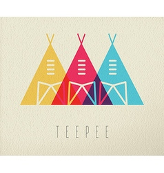 Tepee native american icon concept color design vector