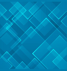 abstract blue square shape technology laser vector image vector image