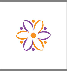 abstract flower eco logo vector image vector image