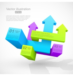 Abstract geometric arrows 3D vector image vector image