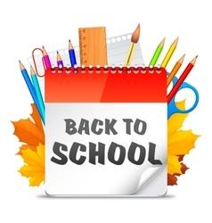 Back To School Calendar vector image vector image