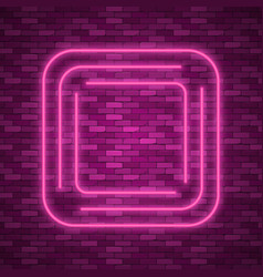 Blue abstract neon square shape vector