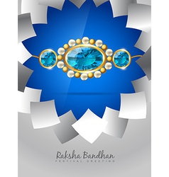 Blue rakhi background vector
