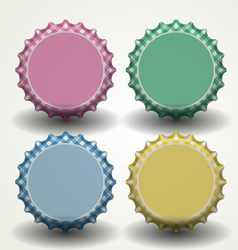 Bottle caps vector image