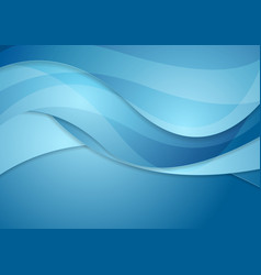 Bright blue abstract waves background vector