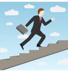 businessman and stairs vector image