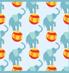 circus funny performance elephant animal vector image vector image