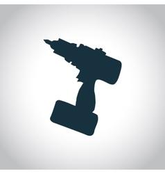 Drill black icon vector image
