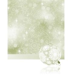 Elegant Christmas balls on abstract EPS 8 vector image vector image