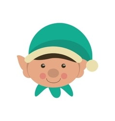 Elf of christmas season design vector