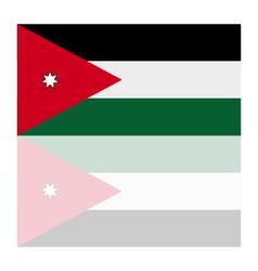 flag of jordan vector image