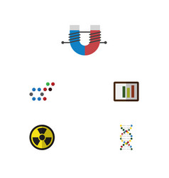 flat icon knowledge set of diagram genome vector image vector image