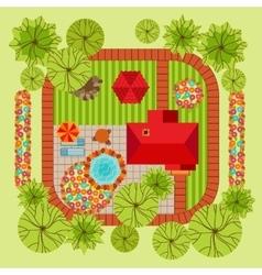 Flat style landscape design concept vector image