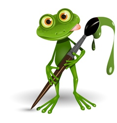 Frog with paint vector