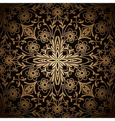Gold pattern vector image vector image