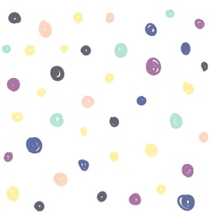 Hand Drawn Circles Seamless Pattern vector image vector image