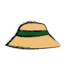 Hat man protection sun vacations image vector