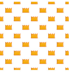 knight crown pattern seamless vector image