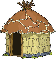 native hut vector image