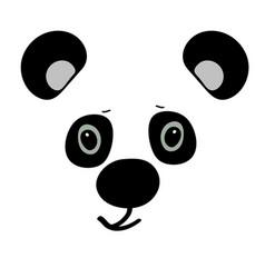 Panda cute funny cartoon head vector