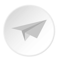 Paper plane icon flat style vector image