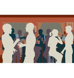 Pub crowd vector