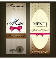 Restaurant Menu design Vintage template vector image