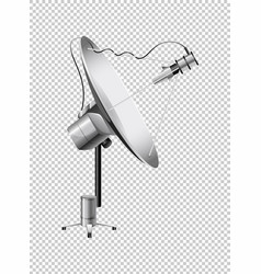 Satellite dish on transparent background vector