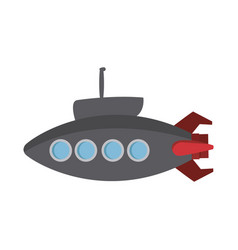 submarine with periscope bathyscaphe cartoon vector image
