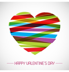 valentine card with heart vector image vector image