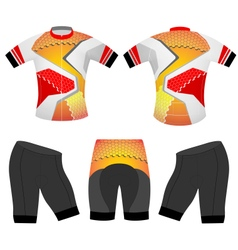 Cycling vest polygons style vector