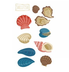 Shellfish cartoon vector