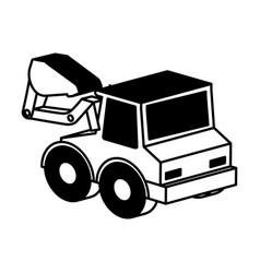 excavator vehicle isometric icon vector image