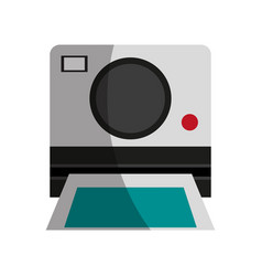 Photographic instant camera icon image vector