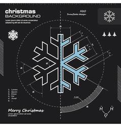 Christmas snowflake infographic design vector image