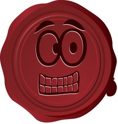 Wax seal smiley 24 vector