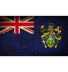 Flags pitcairn islands with dirty paper texture vector