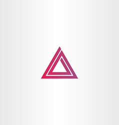 Abstract triangle spiral logo vector