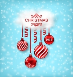 Christmas beautiful background with balls vector