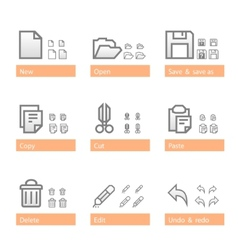 Universal software icon set standart part vector